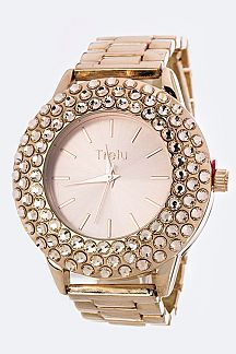 Crystal Bezel Fashion Watch