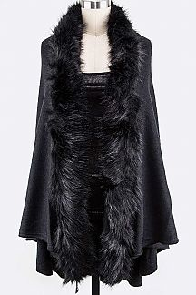 Fur Sleeveless Cardigans