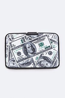 $100 Bill Print Hard Card Holders