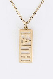 Faith Brass Pendant Necklace