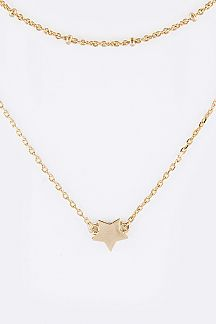Star Pendant Layered Necklace