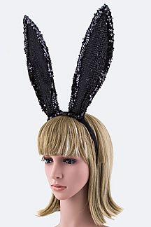 Sequins Bunny Ears Headband