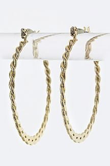 Twisting Rope Textured Iconic Hoops