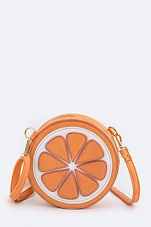 Orange Design Crossbody Bag