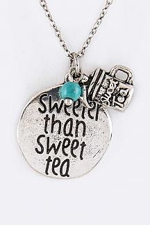 Sweeter Than Sweet Tea Mix Charms Necklace Set