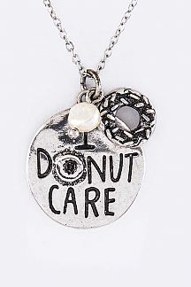 I DONUT CARE Mix Charms Necklace Set