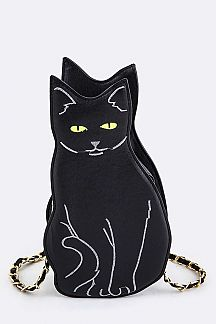 Black Cat Crossbody Bag