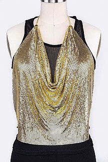 Metallic Chainmill Iconic Halter Top