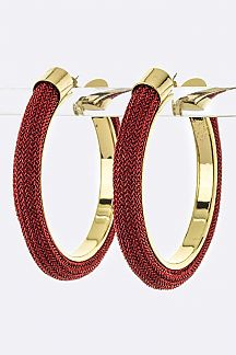 Mesh Tube Hoop Earrings