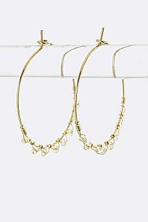 Wired Bead Hoop Earrings