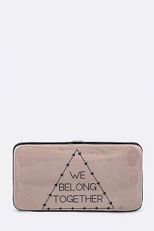 We Belong Together Vinyl Wallet
