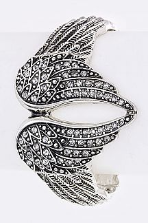 Crystal Wings Stretch Bracelet