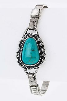 Turquoise Pebble Hook Bangle
