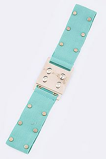 Flat Studded Fashion Stretch Belt