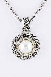 Pearl Pendant Designer Necklace