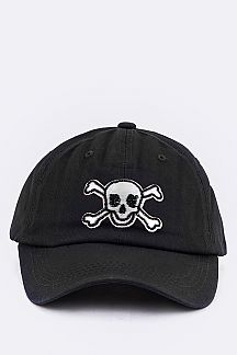 Skull Embroidery Cotton Cap