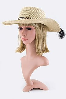 Braided Band Bow Straw Hat