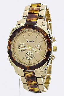 2 Tone Fashion Chrono Watch
