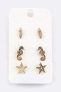 Sea Life Mix Studs Set