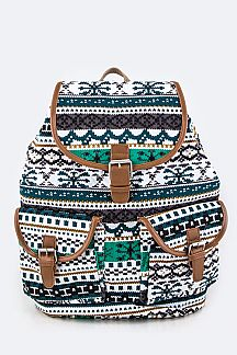 Iconic Pattern Backpack