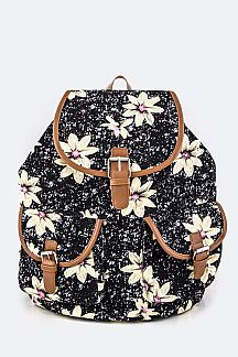 Daisy Pattern Backpack
