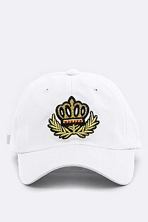 Crown & Laurel Embroidery Cotton Cap