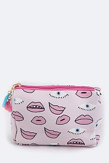 Eye & Mouth Pattern Pouch
