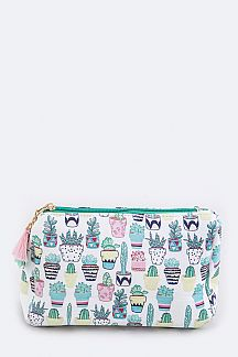 Cactus Pattern Pouch