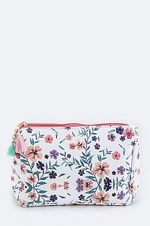 Flower Print Pouch