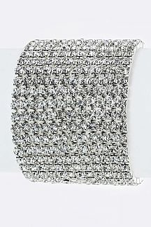 12 Lines Crystal Stretch Bracelet