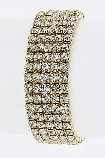 5 Lines Crystal Stretch Bracelet