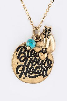 Bless Your Heart Mix Charms Necklace Set