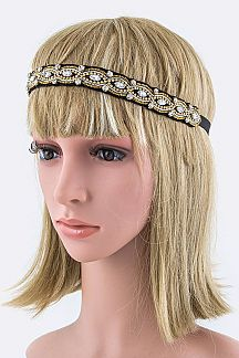 Crystal & Bead Stretch Headband
