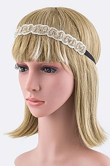 Crystal & Lurex Stretch Headband