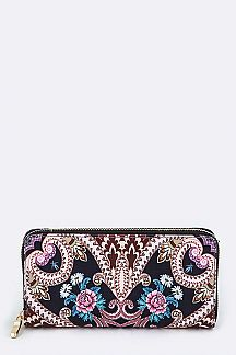 Psychedelic Flower Print Wallet