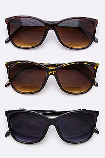 Crystal X Temple Fashion Sunglasses