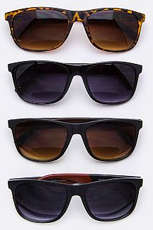 2 Tone Temple Wayfarer Sunglasses