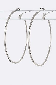Edged Classic Hoops