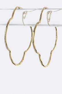 Metal Clover Hoop Earrings