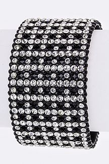 Crystal Patterned Fashion Cuff