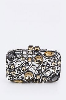 Austrian Crystal Statement Box Clutch