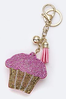 Soft Crystal Cupcake Key Charm