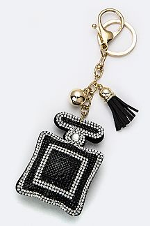 Soft Crystal Perfume Bottle Key Charm