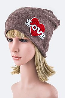 Plush LOVE Beanie Hat