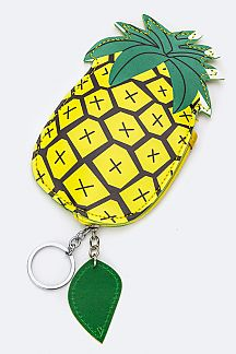 Pineapple Pouch Key & Bag Charm