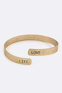 Engrave LOVE LIFE Bangle
