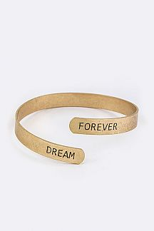 Engrave FOREVER DREAM Bangle