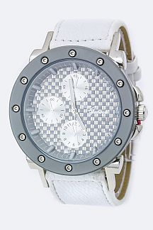 Mosaic Crystal Fashion Chrono Watch