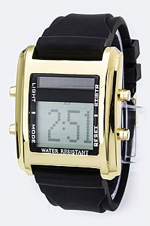 Square Digital Sports Watch
