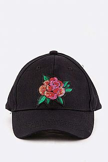 Sequins Rose Kids Size Cap